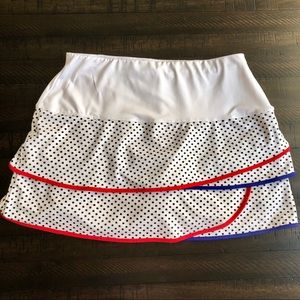 Lucky in Love Girls Scallop Tennis Skirt Polkadot